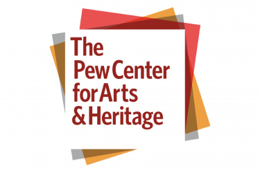 logo for The Pew Center for Arts & Heritage, a series of squares overlaid on top of each other