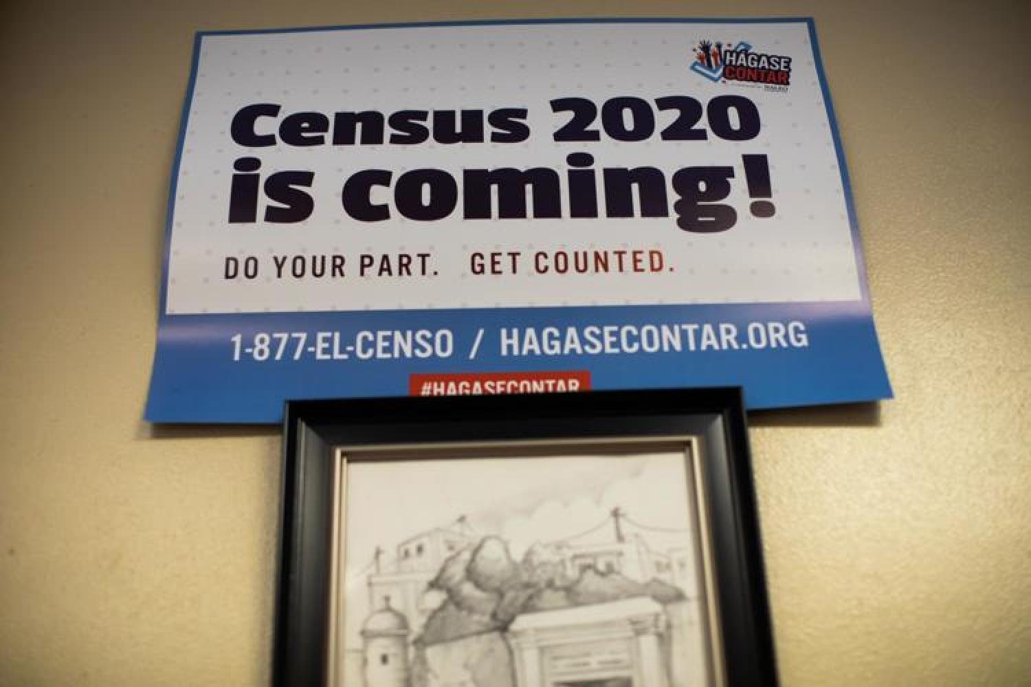Flier reads: Census 2020 is coming