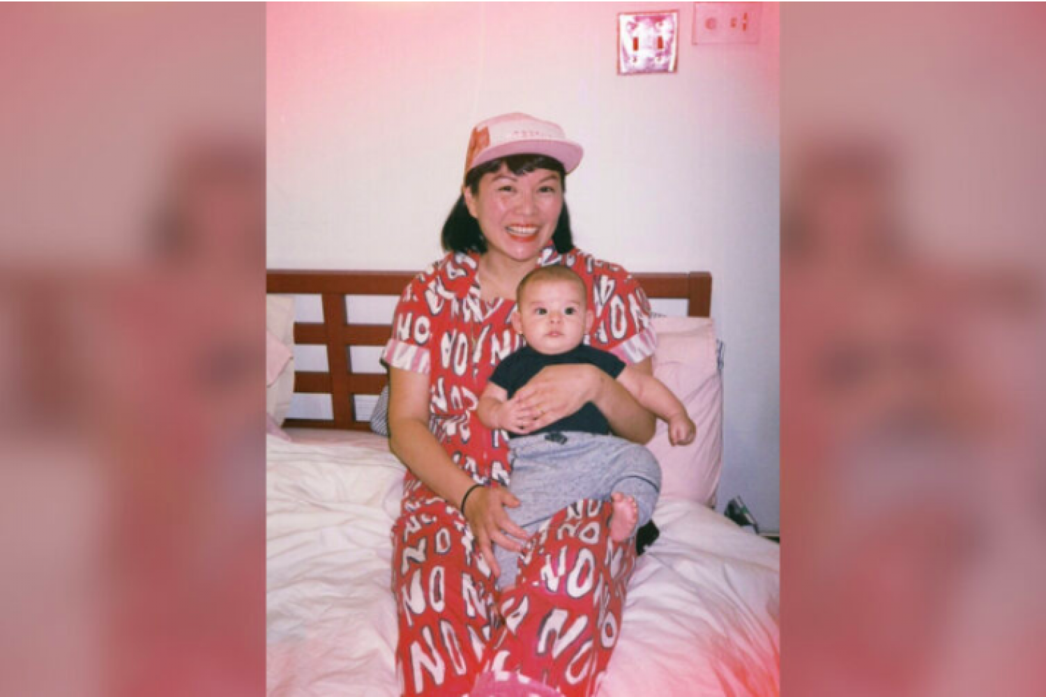 Anne Ishii holds her son, Dario.