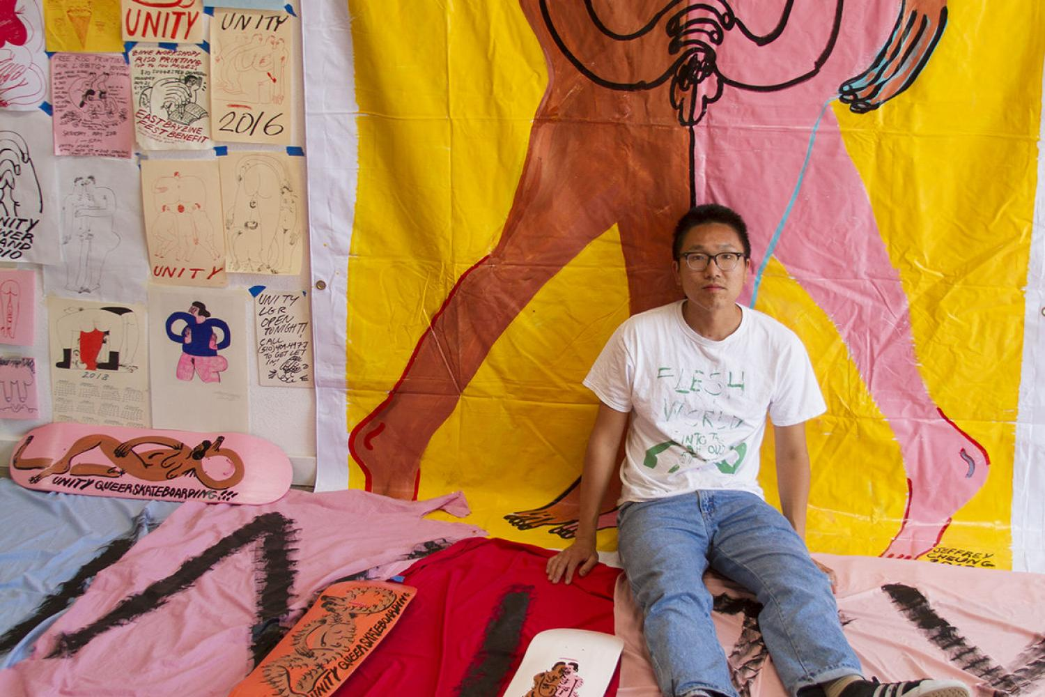 Portrait of artist Jeffrey Cheung by Dongyi Wu