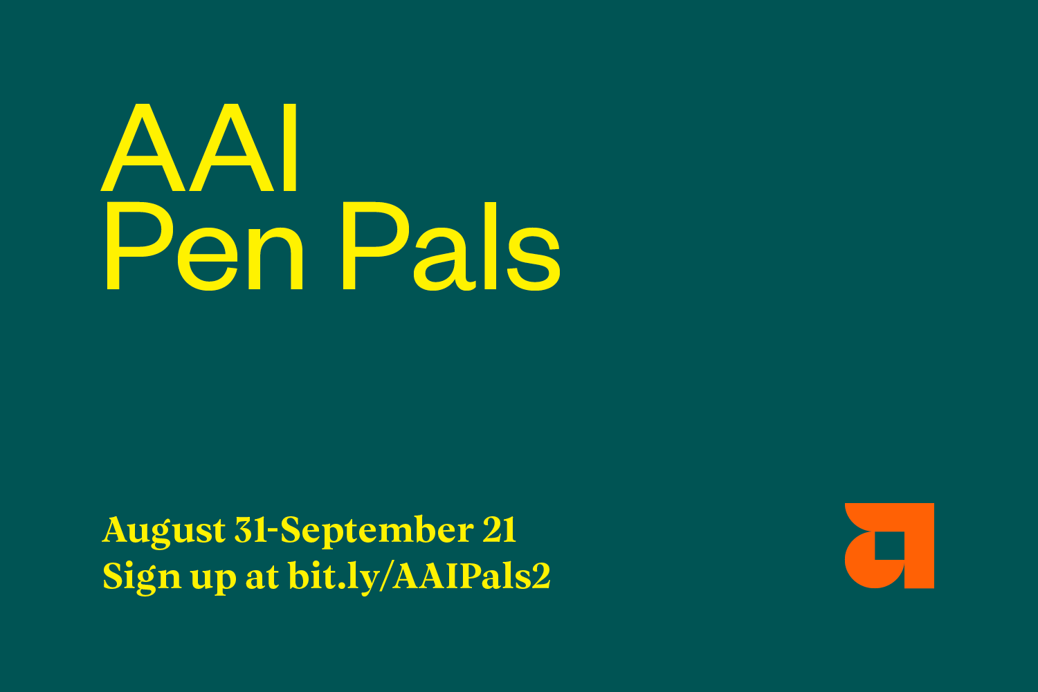 AAI Pen Pals - August 31 to September 21
